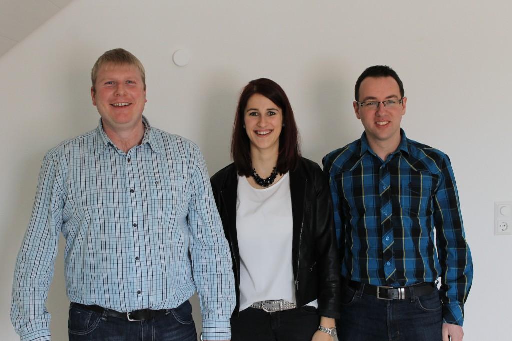 Vorstandsteam: Martin Ries, Julia Wohnhas, Wolfgang Spengler junior.