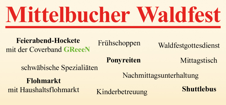29.07. – 31.07. Waldfest