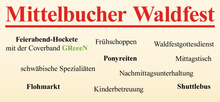 28.07. – 30.07. Waldfest